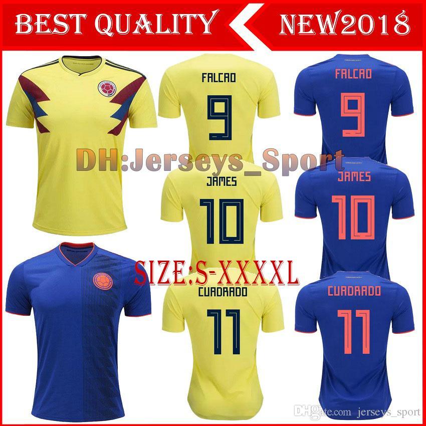 New 2018 Colombia World Cup Jerseys JAMES FALCAO CUADRADO BACCA Football Shirts  18 19 Colombia National Team Home Away Soccer Jerseys Colombia Soccer Jersey  ... 36171f9c1
