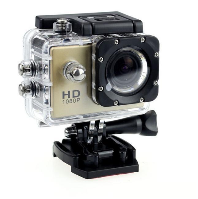Ücretsiz göndermek DHL-2017 yeni SJ4000 freestyle 2 inç LCD 1080 P Tam eylem kamera 30 metre su geçirmez DV kamera spor kask SJcam DVR00