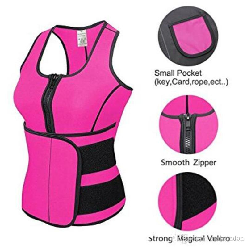24e070a329f 2019 2018 Hot Sale Waist Cincher Sweat Vest Trainer Tummy Girdle Control  Corset Body Shaper For Women Plus Size S M L XL XXL 3XL 4XL From  Parklondon