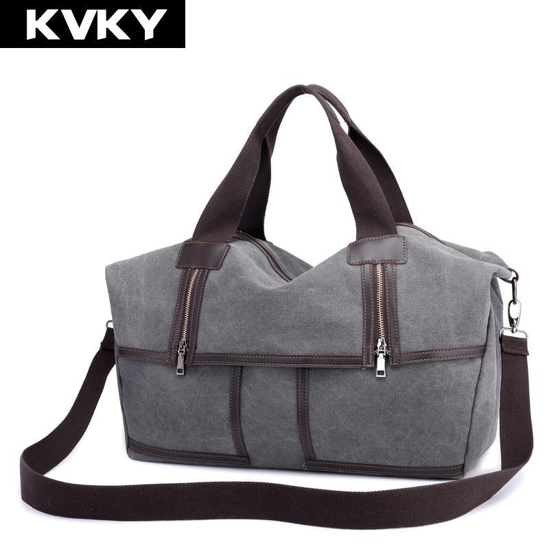 b537d3467509 KVKY Canvas Women Handbags Hobo Women Messenger Bags Designer Female ...