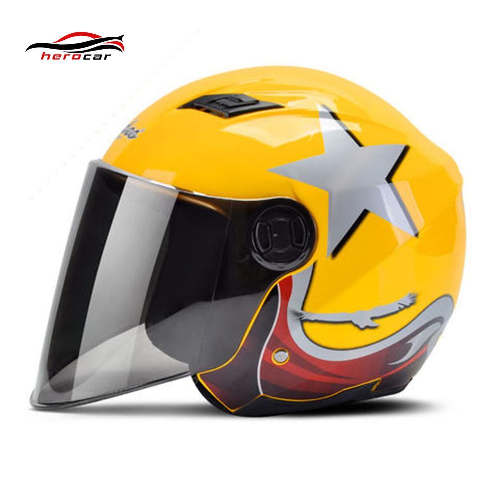 Motorcycle Helmet 3 4 Open Face Helmet Scooter Motorbike Capacete