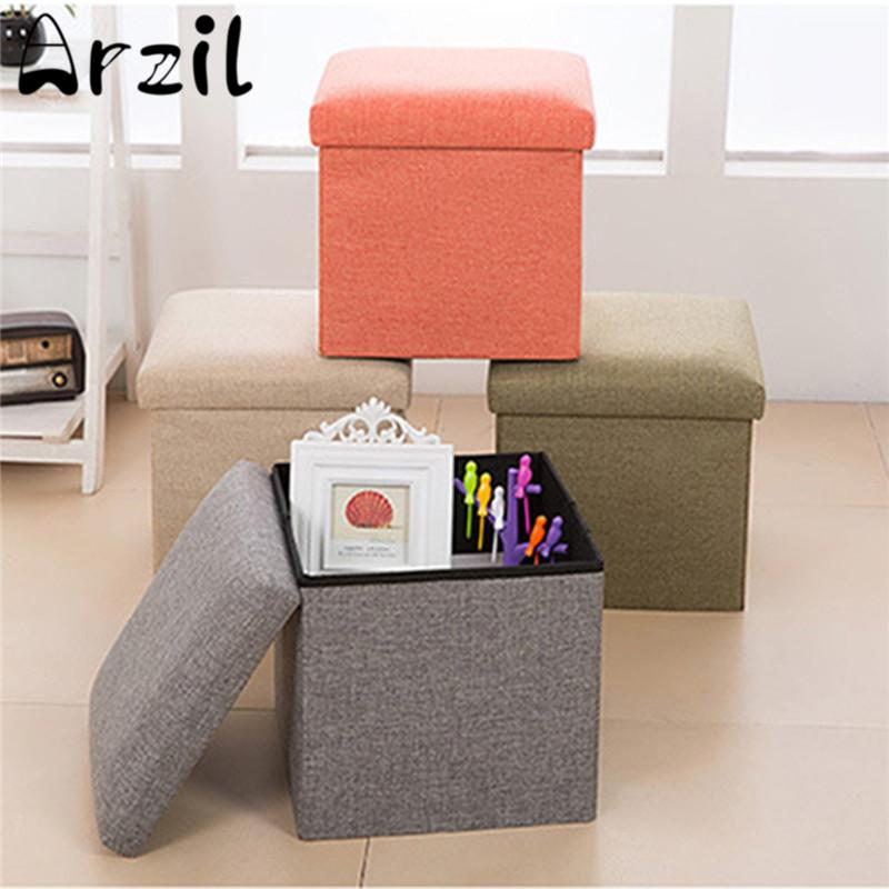 Attrayant 2018 Multifunctional Linen Storage Box Foldable Shoe Changing Sofa Folding  Cloth Toy Storage Boxes Stool Organizer Home Decor From Homegarden, ...