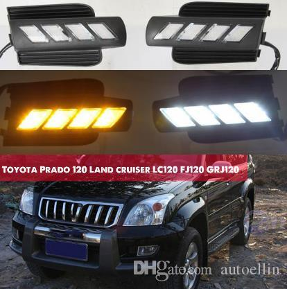 Drl For 2003 120 Grj120 Running Toyota Lc120 2004 Lamp Prado 2006 2008 Fog Land Fj120 2007 Cruiser 2009 Lights Daytime Led 2005 E2YIWD9H