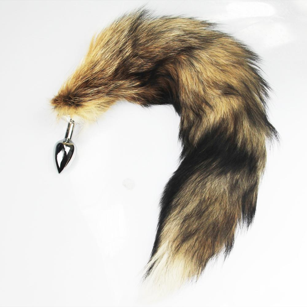 23bebc4d602 Wild Fox Long Tail Metal Furry Doggy Anal Sexy Toys Big BDSM Flirt G Spot Anus  Butt Plug For Women Fetish Cat Tail Adult Toy Y1893002 Strapon Lesbians  From ...