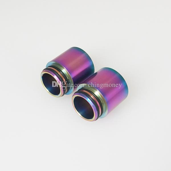 Stainless Steel SS Rainbow Color 810 510 Drip Tips for Thread Wide Bore Mouthpiece TFV8 TFV12 Prince Tank TFV8 BABY Atomizer