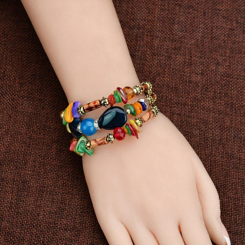 Fashion Bead Multiple Layers Charm Bracelet For Women Men Leather Bracelets & Bangle New Femme Party Jewelry Gift