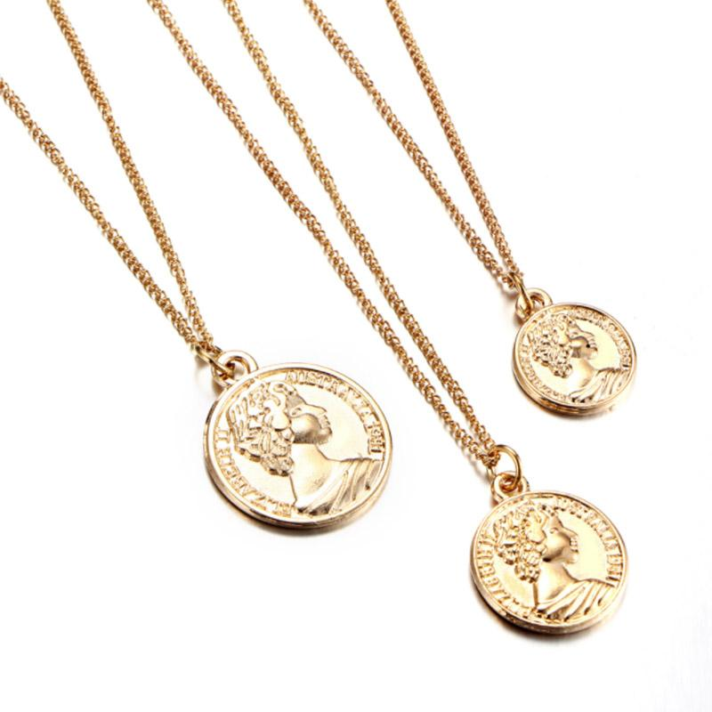 2019 Vintage Carved Coin Necklace For Women Fashion Gold Color Medallion  Necklace Multiple Layers Pendant Long Necklaces Boho Jewelry From  Geraldgreen d4ef09b5b6