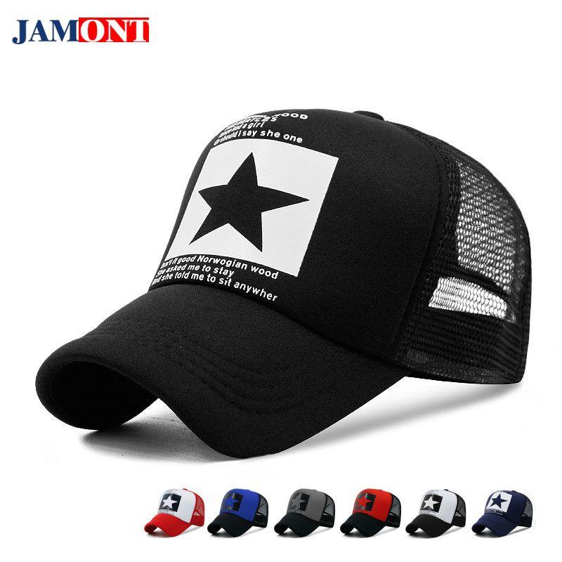 2018 Summer Baseball Cap Men Women Hat Coloured Pentagram Hats Bones Hip  Hop Caps Man Snapback Truck Drivers  Caps Baseball Caps Custom Hats From ... fc97ba71fa8
