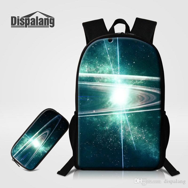 Personality Nebula Stars Printed School Back Pack To Primary Schoolbags+Pencil  Case Galaxy Mochilas Escolar Men Rucksack Boys Pack Kids Backpack Cheap Bags  ... cf2489377425d