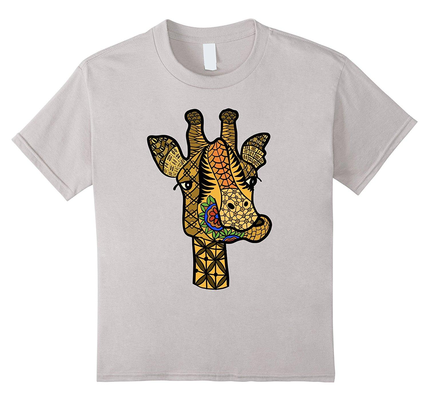 3205b5f6 Women's Tee Giraffe Shirts : Bright Tangle Art Giraffe T-shirt Short Sleeve  Round Neck Sexy T Shirt Women Tops Harajuku Brand Women Tops