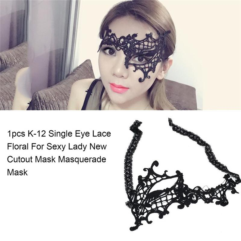 Eye Mask Women Sexy Single Eye Lace Venetian Mask For Masquerade Ball Halloween Cosplay Party Masks Female Fancy Dress Costume