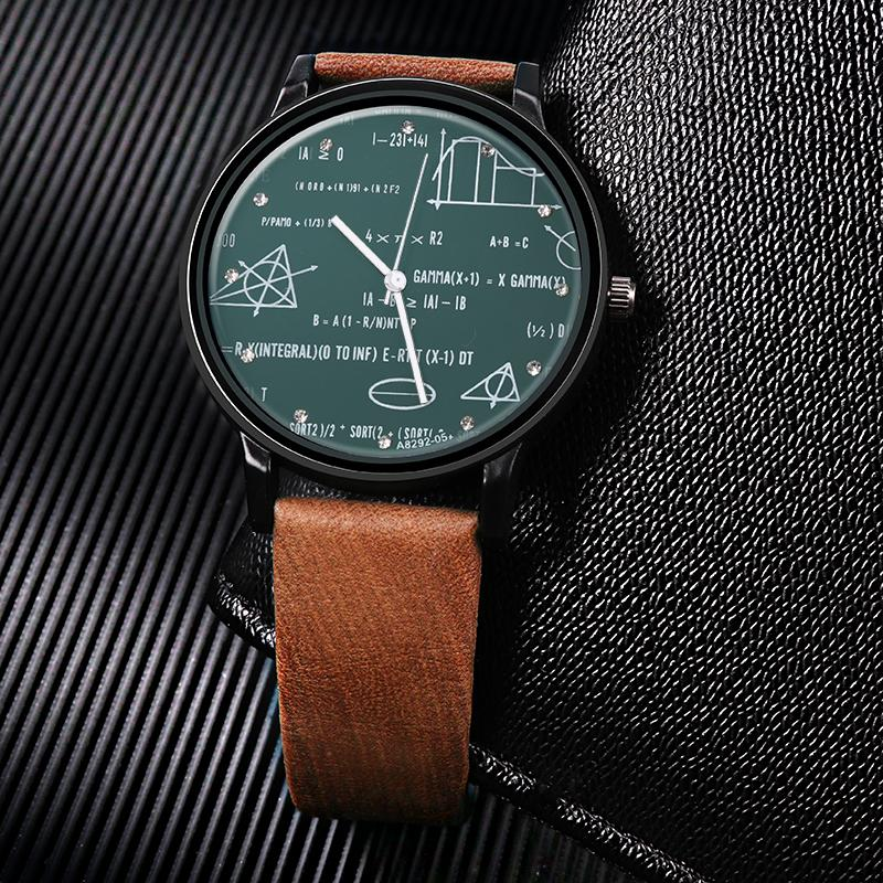 Reloj Longitud Reloje Cuarzo Matical Desgin Pulsera De Imprime Cuero Hombre Relojes Especiales Moda 8n0wmNyvO
