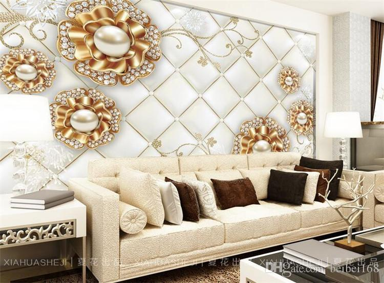 wallpaper wall painting modern art non-woven paper papel de parede 3d TV contracted large mural wall papers home decor