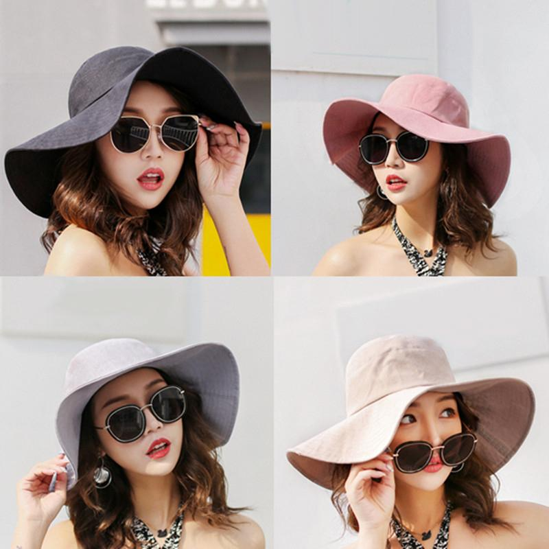 f4bbc6584d1 Woman Hats in Summer Casual Hats for Beach Drop Shipping Wide Brim Hats  Lady Summer Hats Sun Hats Online with  12.71 Piece on Shunhuico s Store