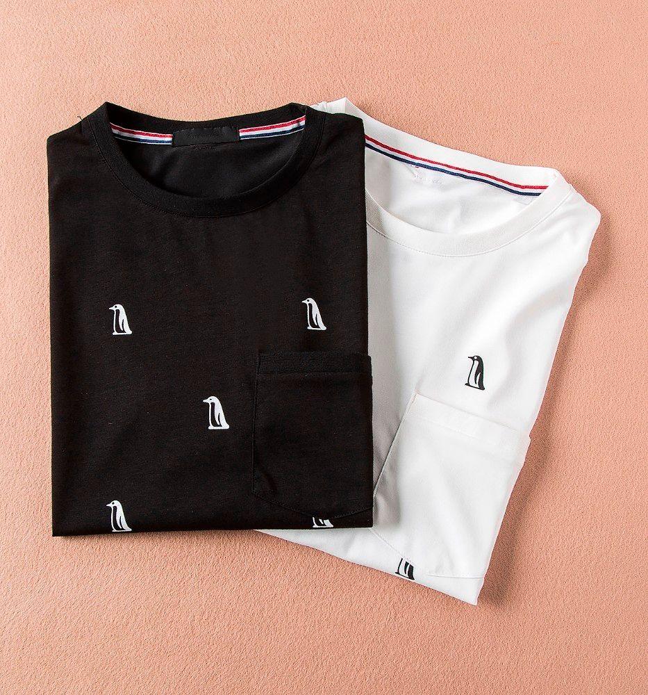 2018 Summer Animal Penguin Printing Fashion T Shirts For Men High