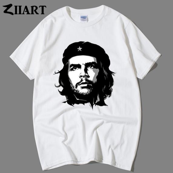 Compre Che Guevara Argentino Ernesto Che Guevara Negro Y Retrato De La  Cabeza Pareja Ropa Hombre Camiseta ZIIART A  24.2 Del Restdaystore  b7b3d76ada410