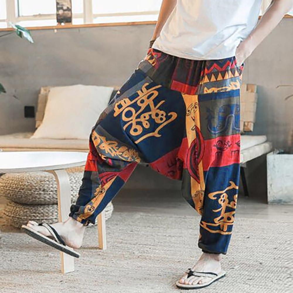 c60066f6aca 2019 Mens Womens Yoga Pants Unisex Loose Drop Crotch Floral Yoga Joggers  Aladdin Harem Trousers Pants Fitness Clothing Ropa Deportiva From Lianqiao