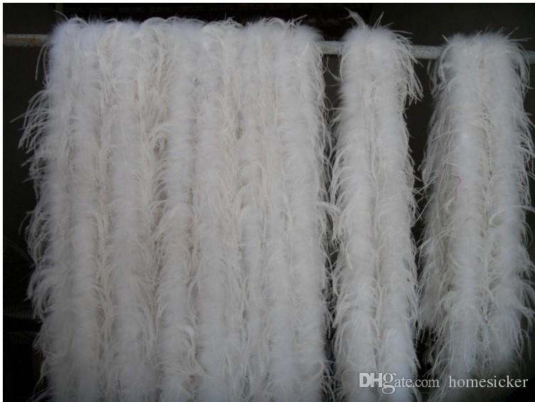 / 200cm boda de la tira de la pluma de avestruz para el partido Marabou Feather Boa bufanda del traje de la tira de plumas de avestruz