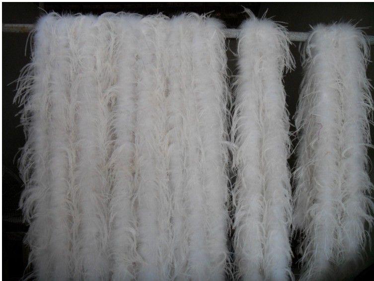 200cm ostrich plumes strip mariage pour la fête Marabou Feather Boa Foulard Costume Ostrich Feather Bandes