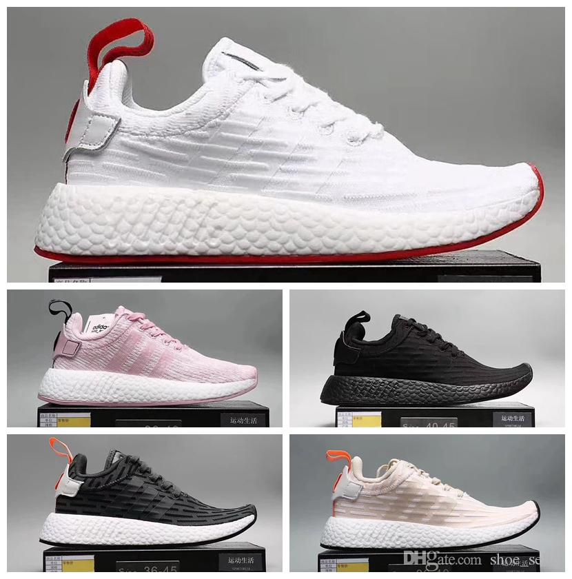 sale retailer cb0ce c40a3 2018 new NMD R2 Naked x Kith Brand Consortium CS2 Primeknit Women Men  Running Shoes Designer Nmds Runner City Sock Pink Girl Sneakers