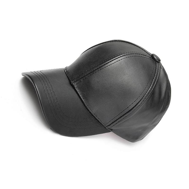 e5c8126dd988 BBYES 2018 Gorra de Béisbol Sólida Unisex de Cuero de LA PU Ajustable HIP  HOP Gorras Snapback Sombreros Para Hombres Mujeres Gorras de Béisbol Sun ...