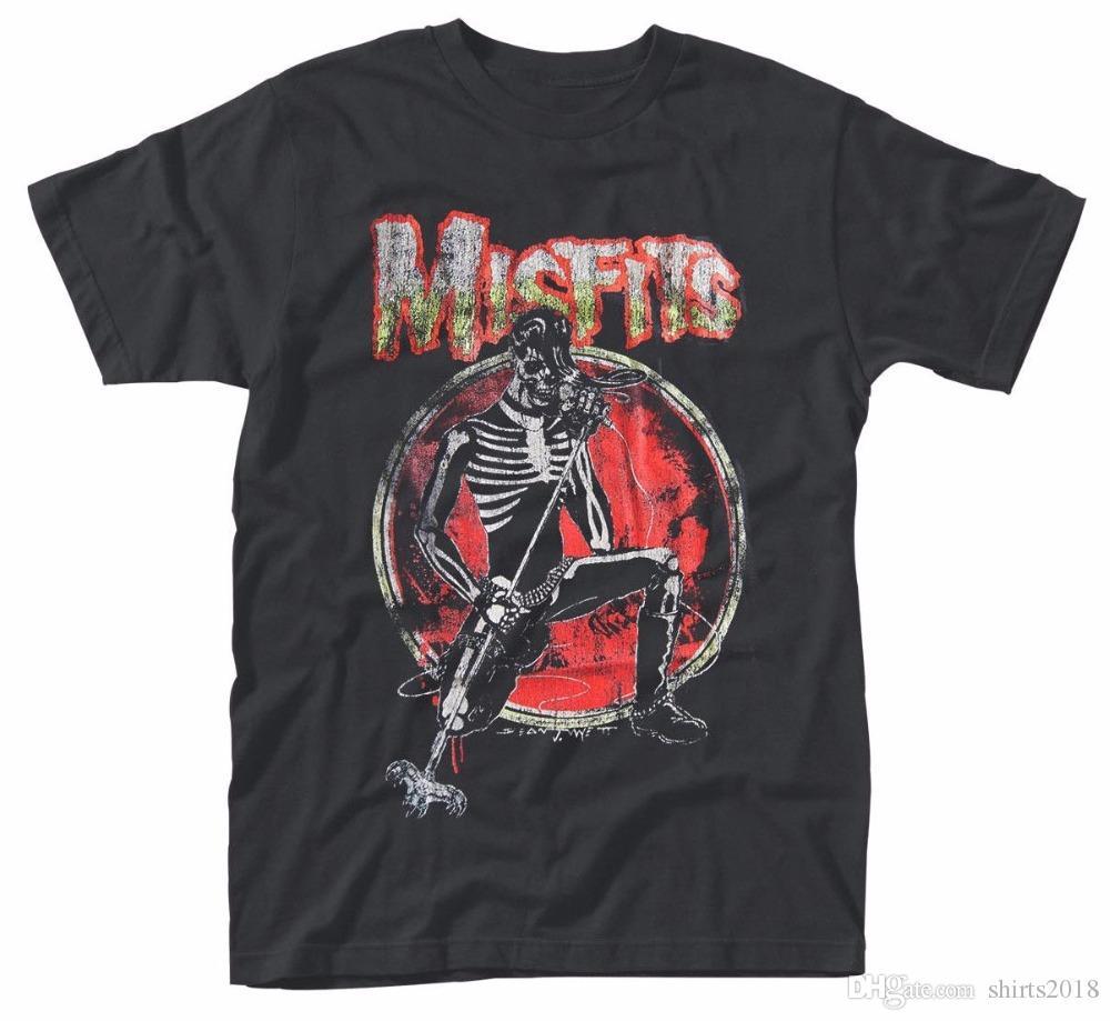 Plain T Shirts Short Sleeve Printing Machine Crew Neck Misfits