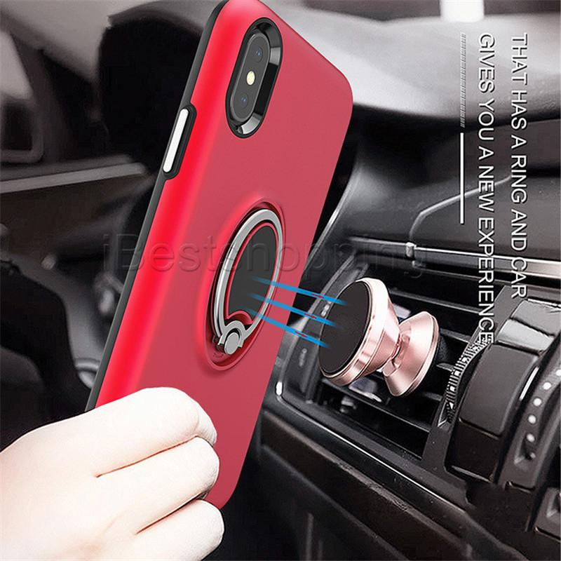 Ring Kickstand Case Fashion Simple Defender Cover For iPhone X Xr Xs Max 8 7 6S Plus Sumsung S9 S8 Plus Note 8 9