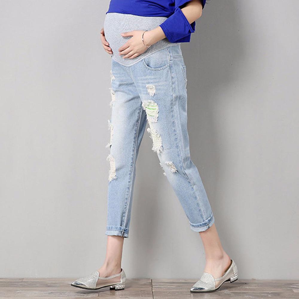 b968c4465 Compre es Maternidad Cómodo Azul Coon Pantalones De Mezclilla Mujeres  Embarazadas Ropa Pantalones De Enfermería Embarazo Jeans Ropa De Monos A   50.56 Del ...