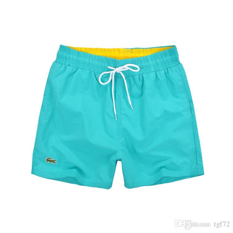 c38c51354 2019 Lacoste New Board Shorts Men Hot MenBoard Shorts Surf Trunks Swimwear  With Mix Colors Mix Size Wear Basics Swimming Wear Pouch Gay From Tgf72