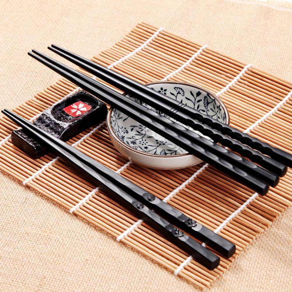 1 Pair Japanese Chopsticks 4 Styles Alloy Non-Slip Sushi Chop Sticks Set Chinese Gift Hot