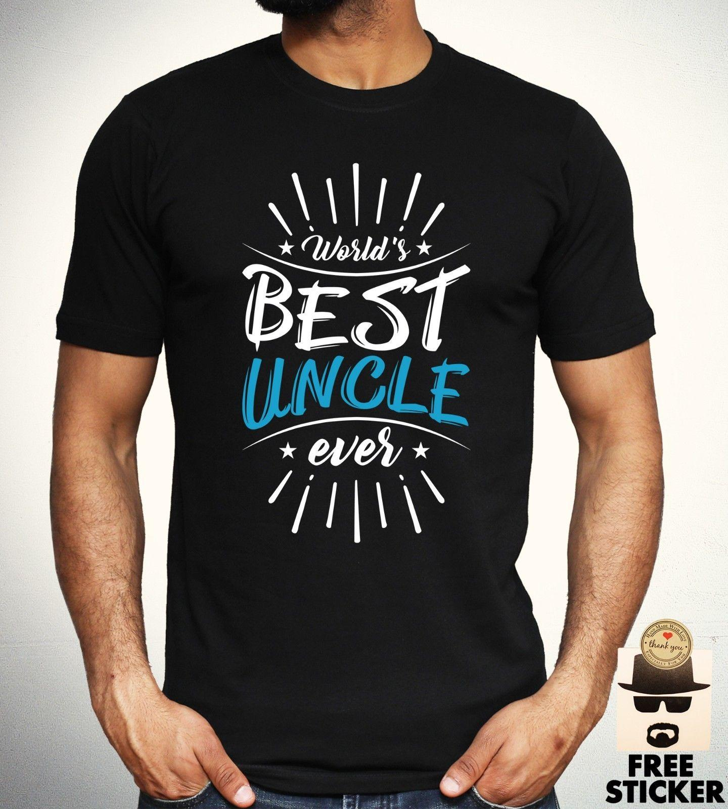 Worlds Best Uncle T Shirt Family Cool Birthday Gift Present Tee Mens Top Knitted Comfortable Fabric Street Style Men Design And Buy Shirts