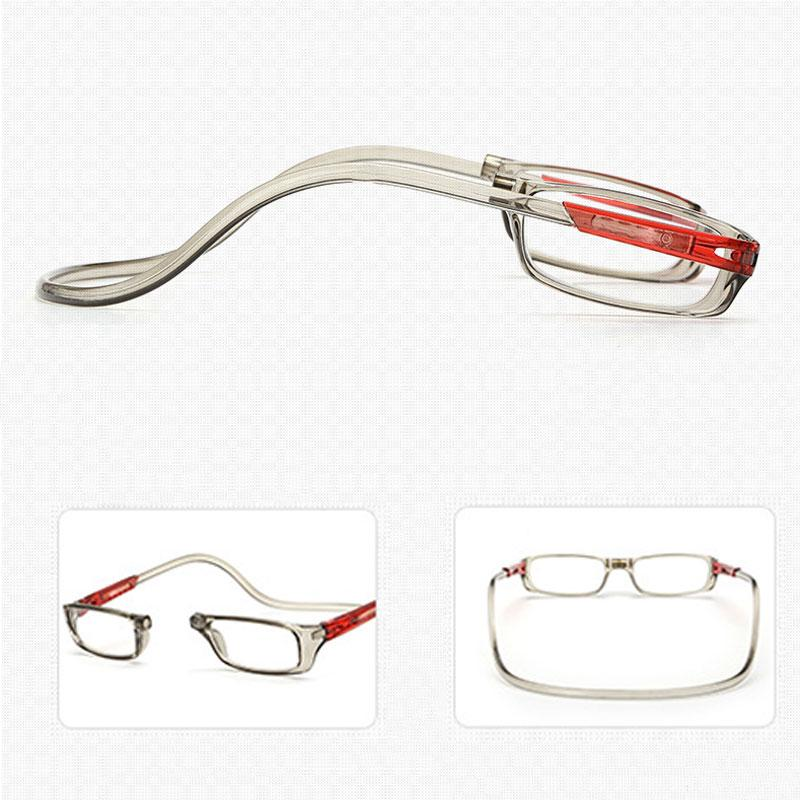 8572a1fc40 2019 Unisex Magnet Reading Glasses Men And Women Adjustable Hanging Neck  Magnetic Front Rim Reading Eyeglasses Glasses Frame From Jayglassdh1