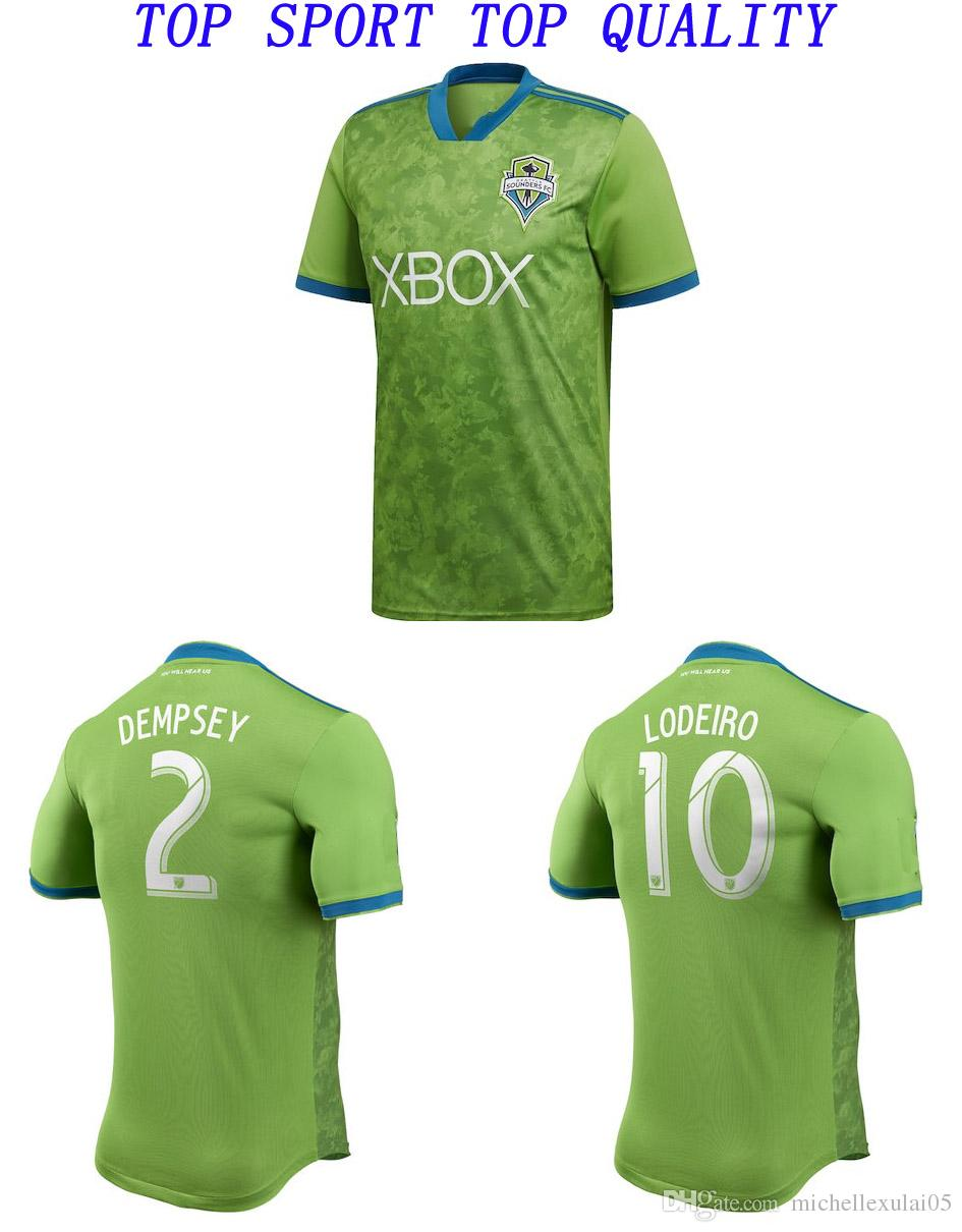 18 19 Seattle Sounders Home Green Soccer Jerseys 2018 2019 DEMPSEY ... bfefd86b6