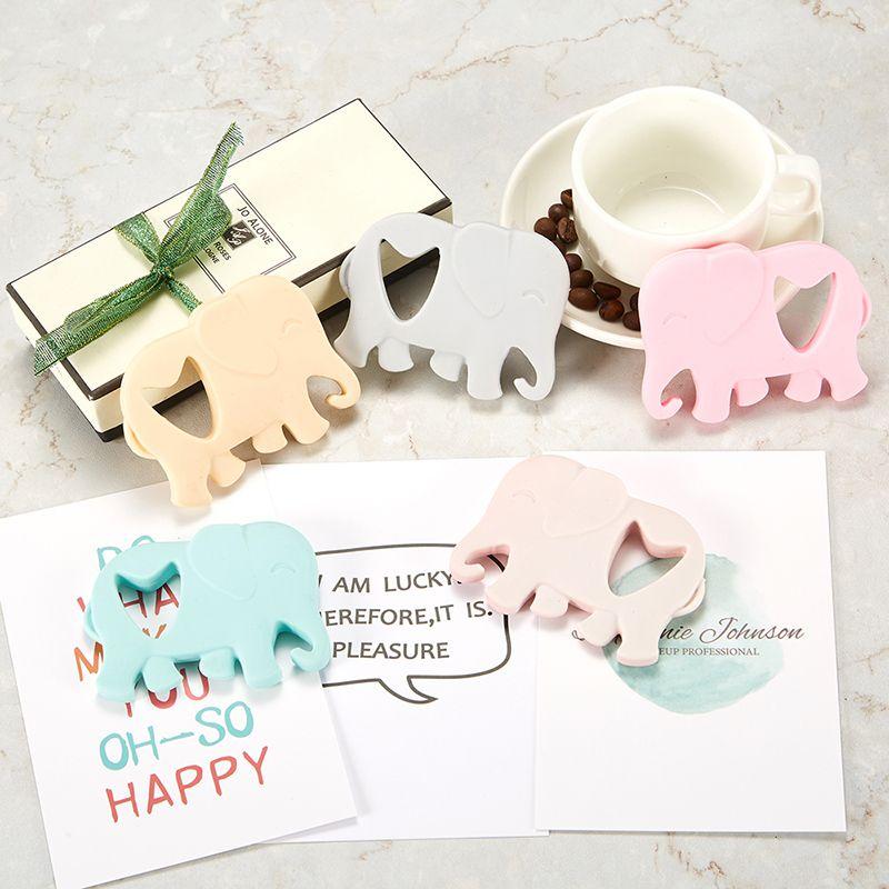 Baby Beißringe Silikon Elefant Beißring Spielzeug BPA Free Chew Anhänger Baby Kinderkrankheiten Perlen Lebensmittelqualität Silikon DIY Anhänger Halskette Zubehör
