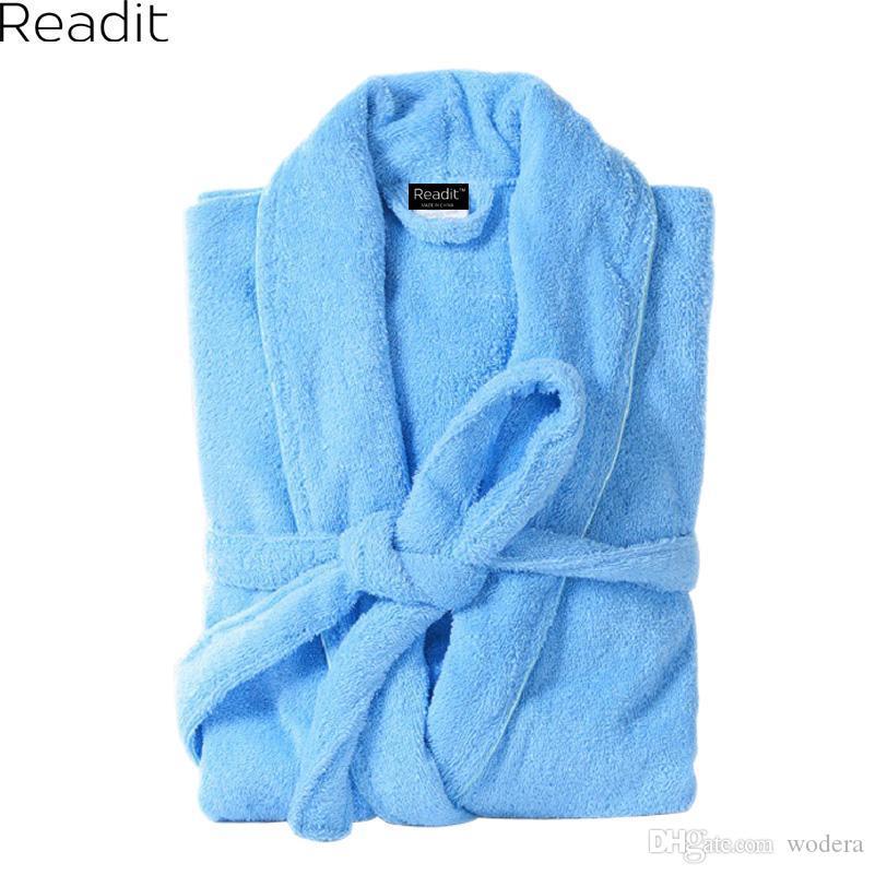 2019 Wholesale Robe Female Women S Cotton Bath Robe Femme Home Gown Terry Bathrobes  Kimono Robes Towel Male Dressing Gown Long Sleepwear PA From Wodera 59dc62183