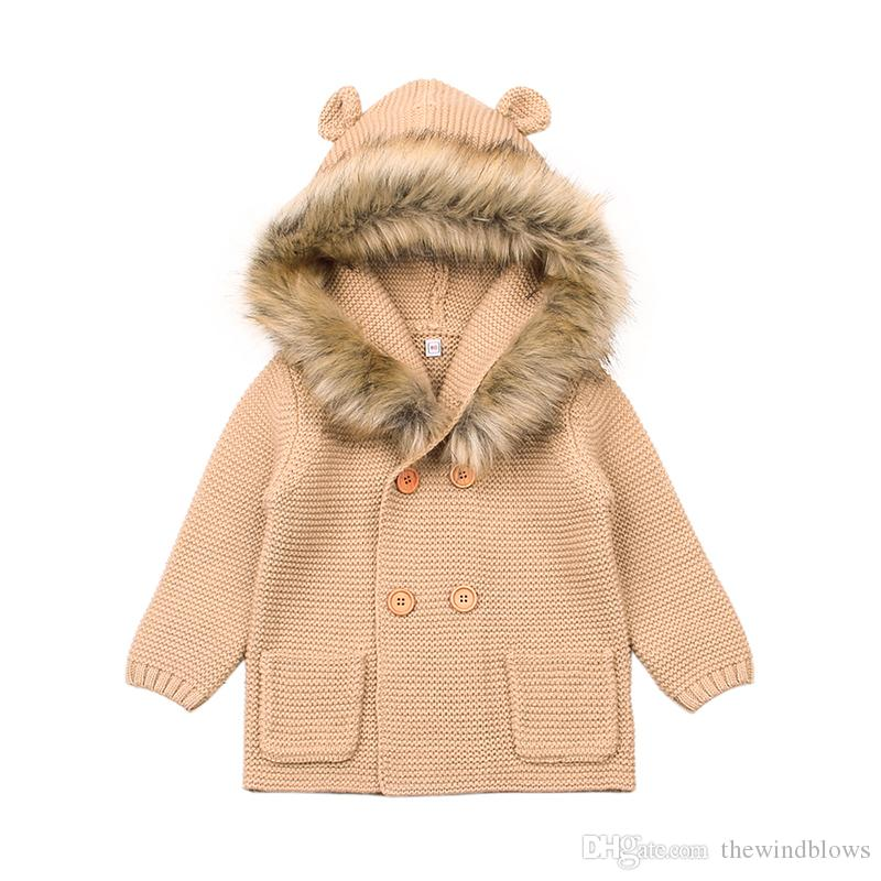 fde414e3e 2018 Winter Warm Newborn Baby Sweater Infant Boy Girl Knitted ...
