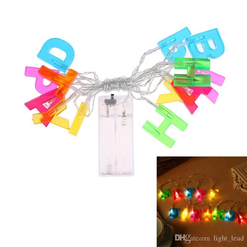 Colorful Feather Led String Lights Fairy Garland Lamp Wedding Decoration Glow Party Supplies Concert Bar Birthday Toy Gift Home & Garden