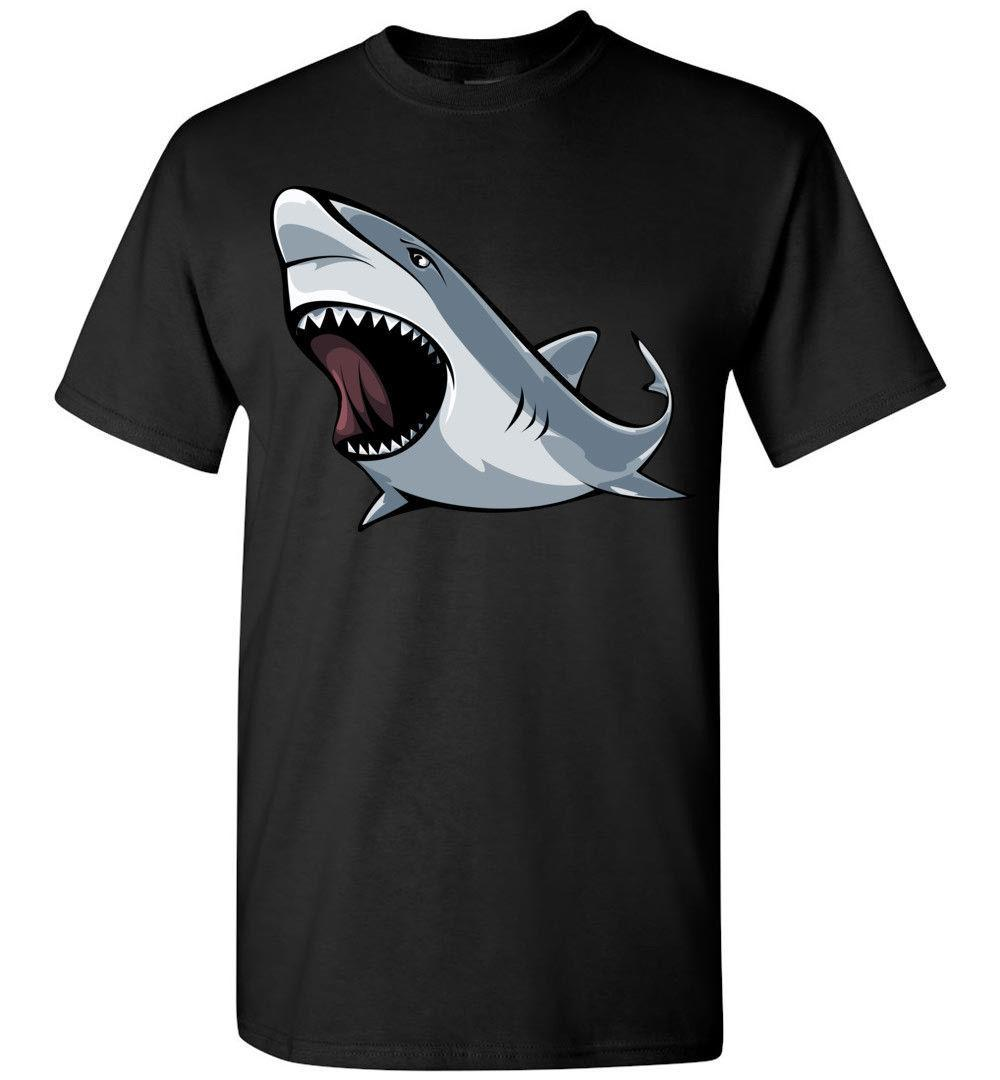 861219cd Angry Shark T Shirt, Men Women Youth Kids Tank Long Personalized Tee Great  White O Neck T Shirts Male Low Price Steampunk T Shirts Shopping Online T  Shirts ...