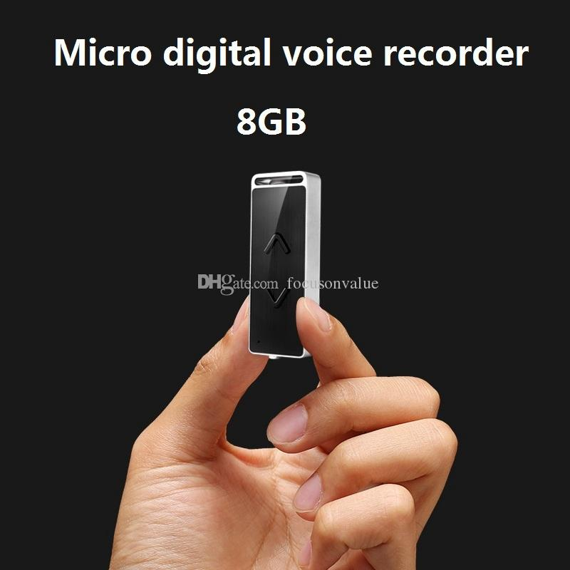 8GB super mini voice recorder portable USB Flash Drive digital voice recorder Multifunctional Mini Dictaphone pen with MP3 music Player