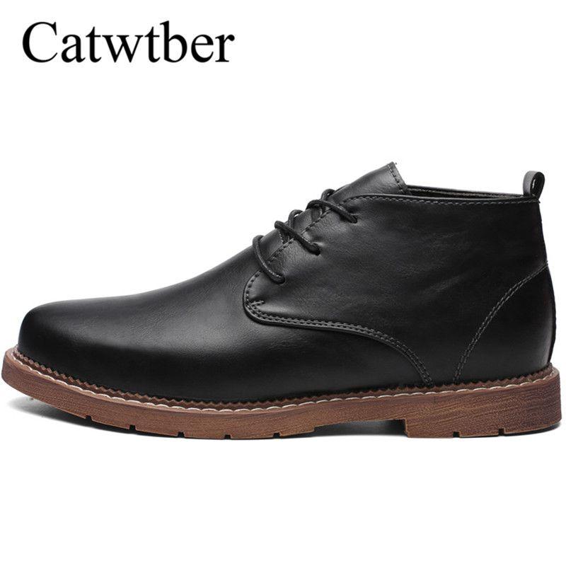 f46ebaa67da Catwtber Outdoor Shoes Men Boots Autumn Fashion Classic Formal Man Ankle  Boots Quality Leather Men'S Botas Hombre Business