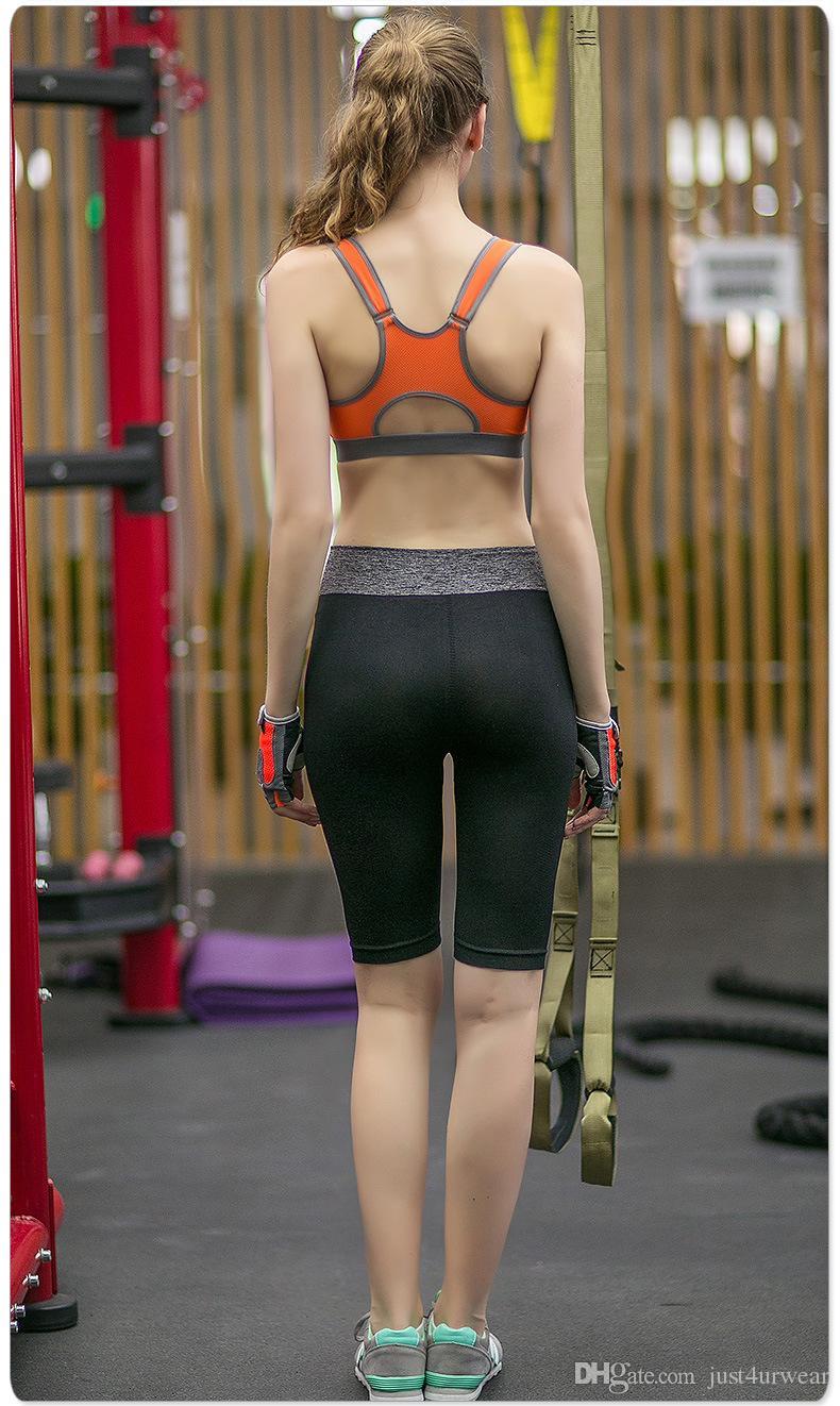 Sujetadores deportivos Sujetador deportivo de doble alambre Push Up GYM Fitness Athletic Bra