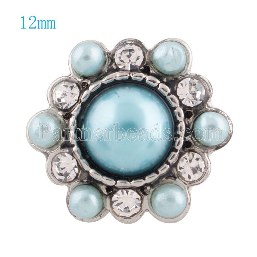 / Nouveau mode 12mm mini bouton pression strass boutons pression pour bracelets collier pendentif bijoux KS8030-S