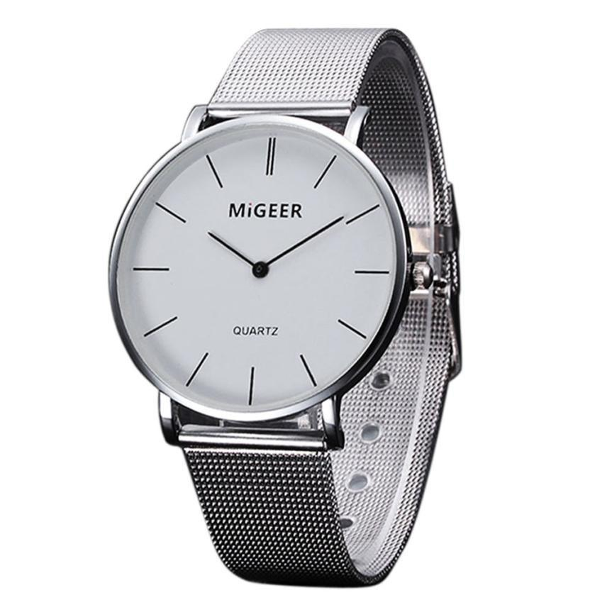 3d54c8b8447bca Fashion Women Crystal Stainless Steel Wrist Watch Simple Large Dial Ladies  Business Mesh Belt Analog Quartz Watches Montre Femme Watches Sale Online  Watches ...