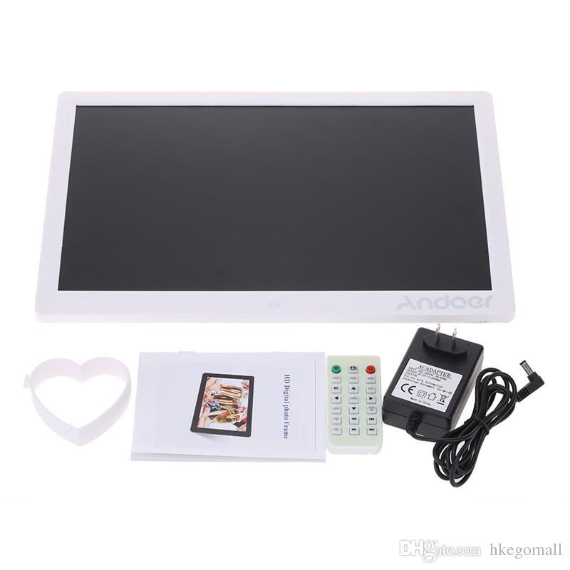 LED Цифровая фоторамка 1280*800 высокое разрешение фоторамка с будильником MP3 MP4 Movie Player пульт дистанционного управления