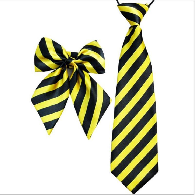 kid's tie bow tie strip patchwork necktie for boy girl neckwear Kindergarten clothing accessory 10sets/lot