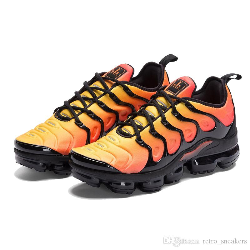 8bf229527a8 New Vapormax TN Plus Running Shoes Classic Outdoor Run Shoes Vapor Tn Black  White Sport Shock Sneakers Mens Requin Olive Silver In Metallic Vapormax  Sport ...