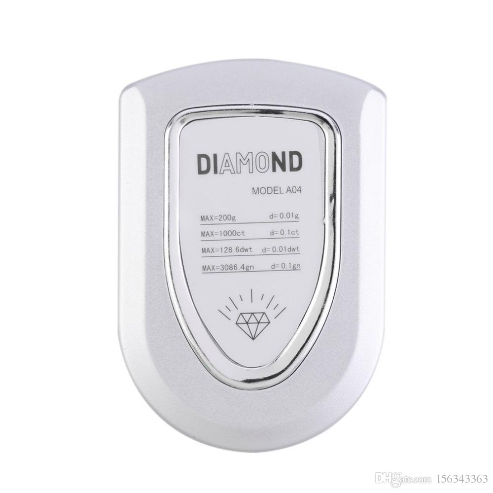Digital Diamond Scale Mini LCD Pocket Jewelry Gold Gram, 500g/0.1g 100g/0.01 200g/0.01 Balance Weight Scales
