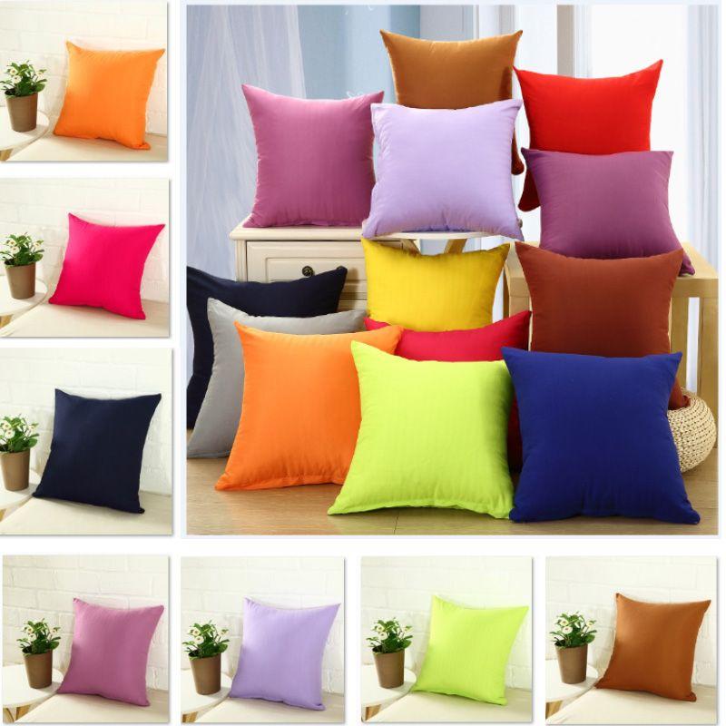 40 40cm plain throw pillowcase cover pure color decorative pillow rh dhgate com