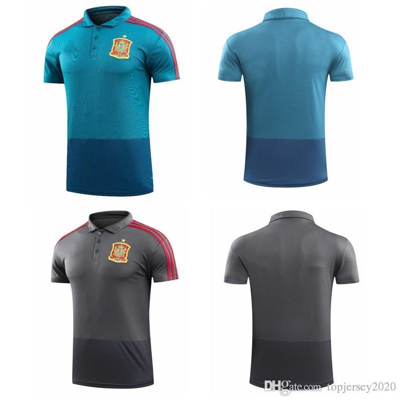 2019 Thai 2018 Spain POLO Shirt INIESTA RAMOS Soccer Kit 18 19 MORATA  ASENSIO Soccer Jerseys ISCO Training Jersey From Topjersey2020 e8d80577a