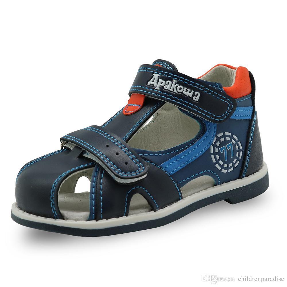 Fermé Bambin Orthopédique Chaussures Bout Pu Été Cuir Enfants Sandales Sport Marque Bébé 2018 Garçons eBodrCx